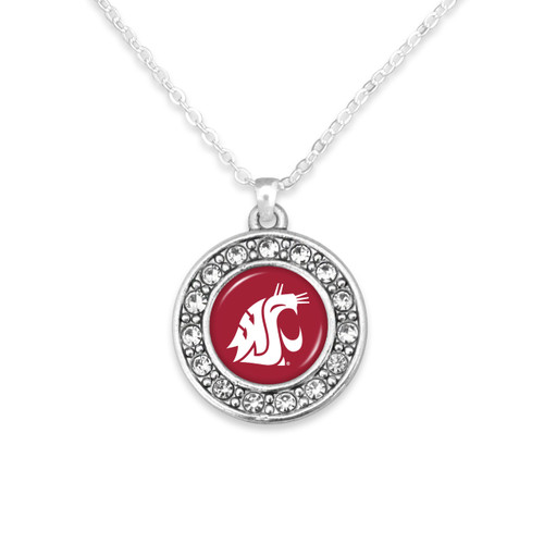 Washington State Cougars Abby Girl Necklace