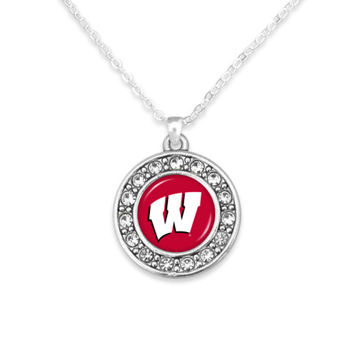 Wisconsin Badgers Abby Girl Necklace