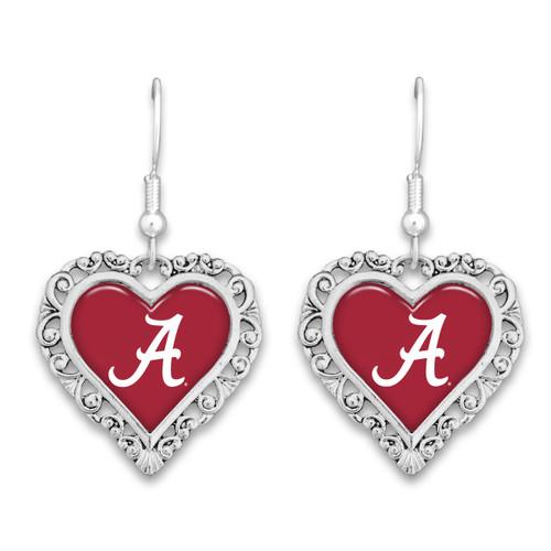 Alabama Crimson Tide Lace Trim Earrings