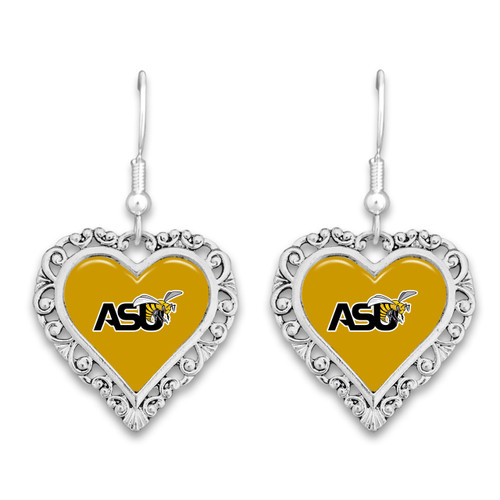 Alabama State Hornets Lace Trim Earrings