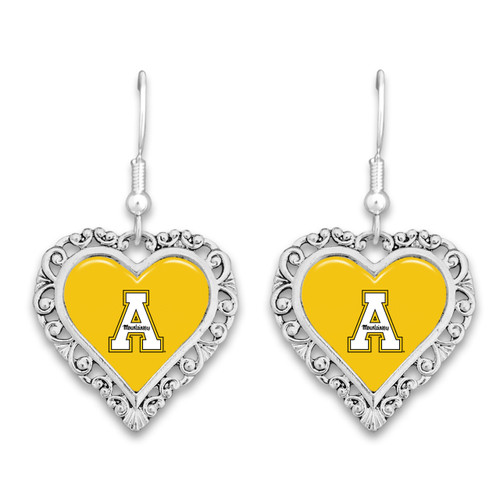 Appalachian State Mountaineers Lace Trim Earrings
