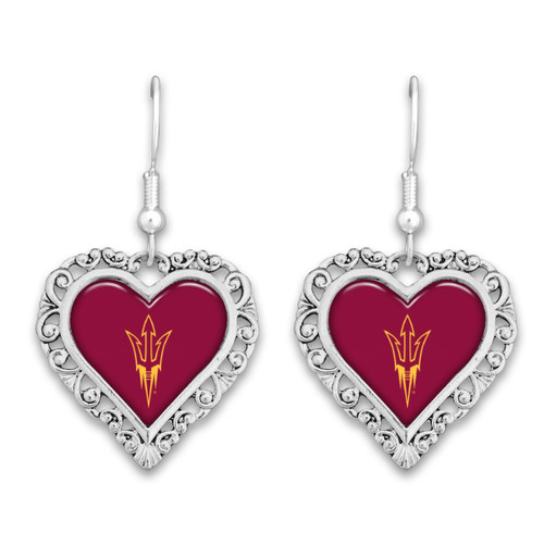 Arizona State Sun Devils Lace Trim Earrings