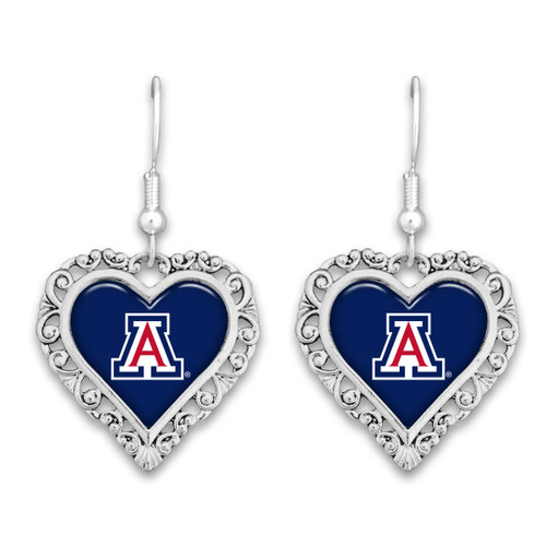 Arizona Wildcats Lace Trim Earrings