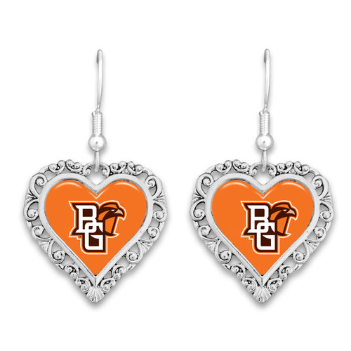 Bowling Green State Falcons Lace Trim Earrings