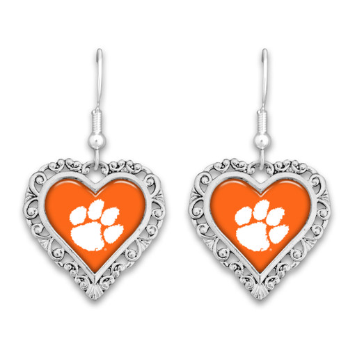 Clemson Tigers Lace Trim Earrings