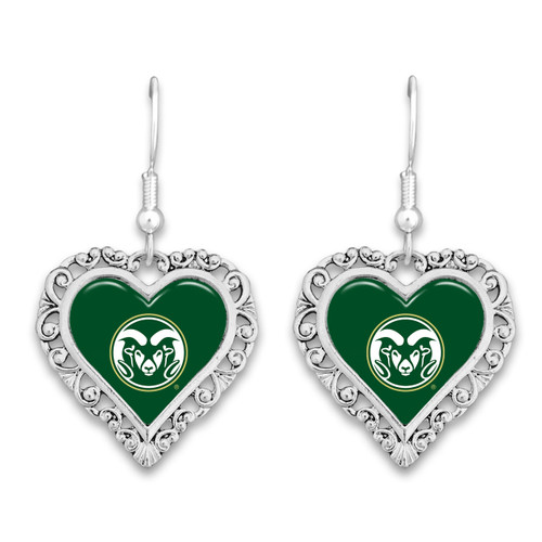 Colorado State Rams Lace Trim Earrings