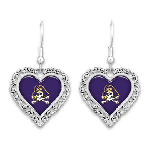 East Carolina Pirates Lace Trim Earrings