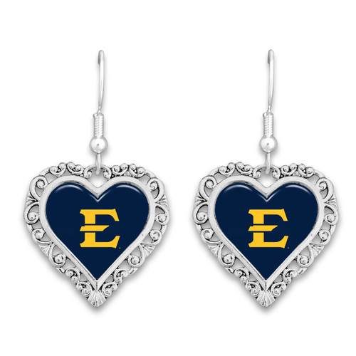 East Tennessee State Buccaneers Lace Trim Earrings