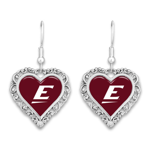 Eastern Kentucky Colonels Lace Trim Earrings