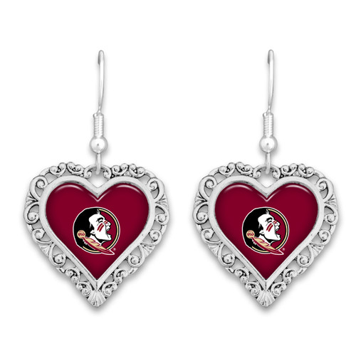 Florida State Seminoles Lace Trim Earrings