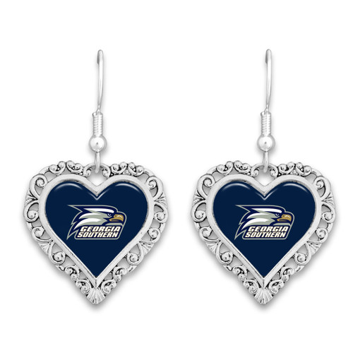 Georgia Southern Eagles Lace Trim Earrings
