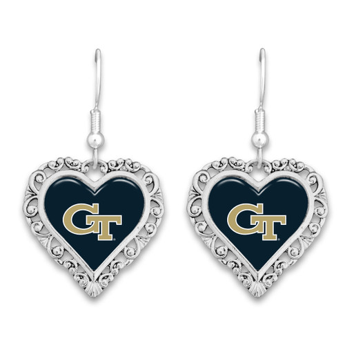 Georgia Tech Yellow Jackets Lace Trim Earrings