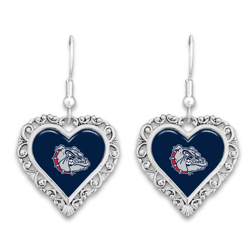 Gonzaga Bulldogs Lace Trim Earrings