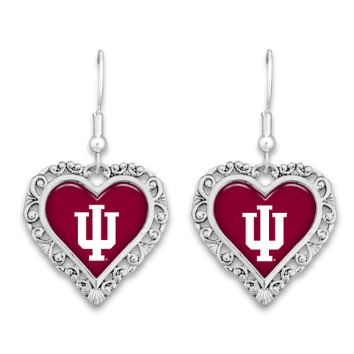 Indiana Hoosiers Lace Trim Earrings