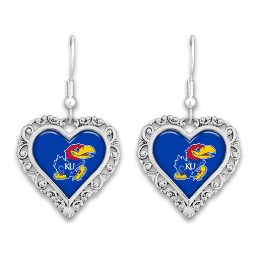 Kansas Jayhawks Lace Trim Earrings