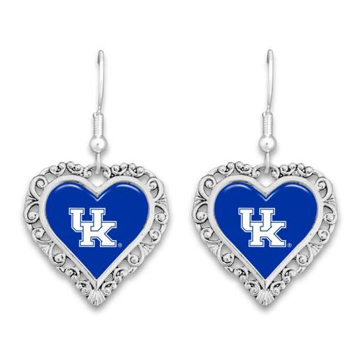 Kentucky Wildcats Lace Trim Earrings