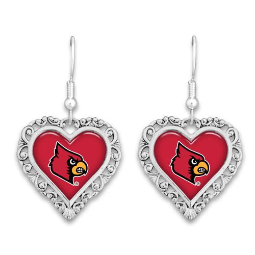 Louisville Cardinals Lace Trim Earrings