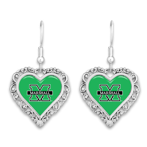 Marshall Thundering Herd Lace Trim Earrings