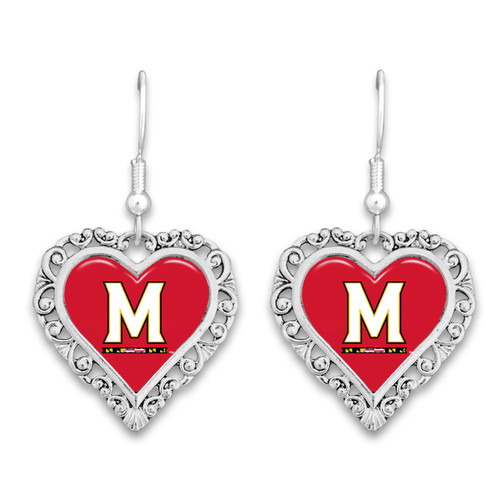 Maryland Terps Lace Trim Earrings