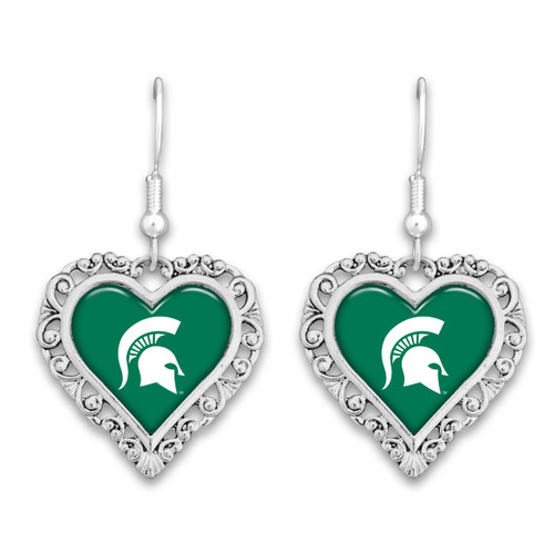 Michigan State Spartans Lace Trim Earrings