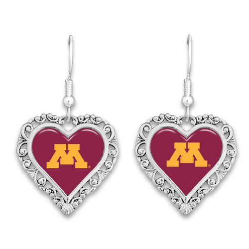 Minnesota Golden Gophers Lace Trim Earrings