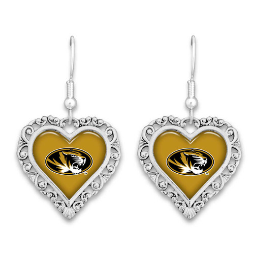 Missouri Tigers Lace Trim Earrings