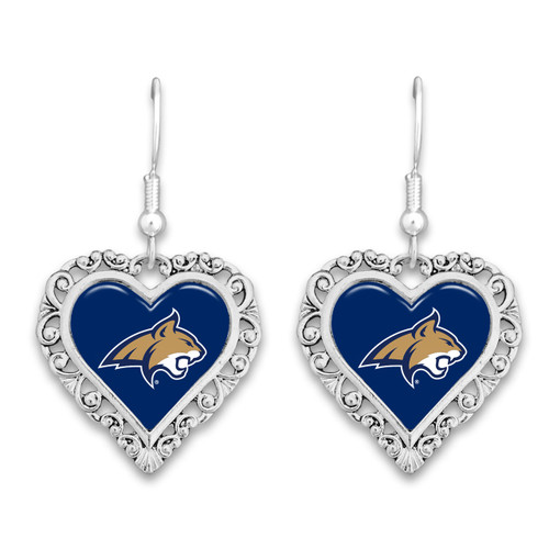 Montana State Bobcats Lace Trim Earrings