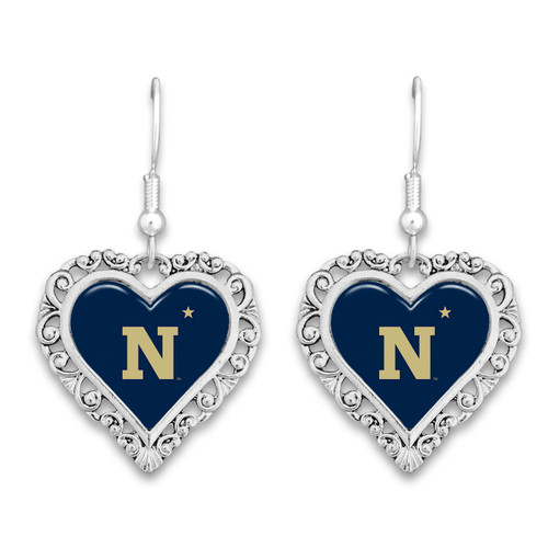 Naval Academy (Navy) Midshippmen Lace Trim Earrings