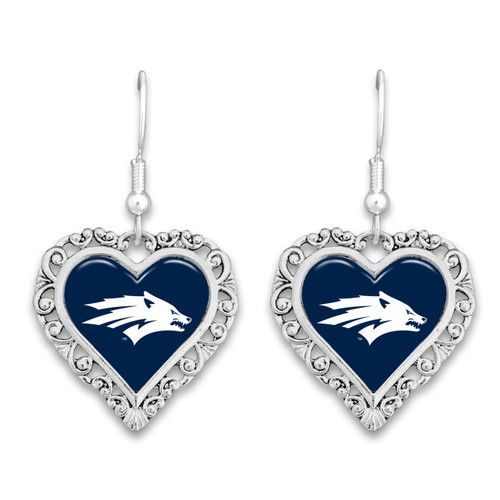 Nevada Wolf Pack Lace Trim Earrings