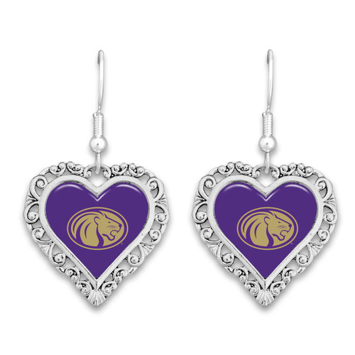 North Alabama Lions Lace Trim Earrings