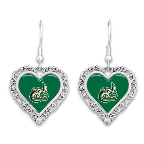 North Carolina- Charlotte 49ers Lace Trim Earrings