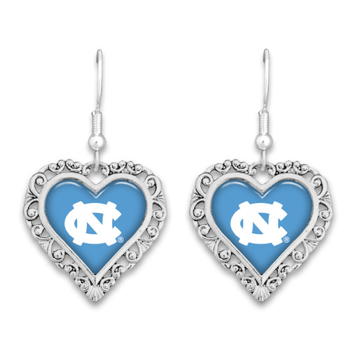 North Carolina Tar Heels Lace Trim Earrings