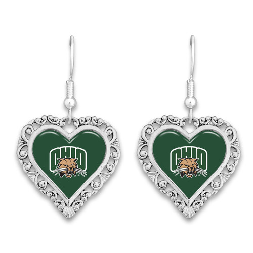 Ohio  Bobcats Lace Trim Earrings