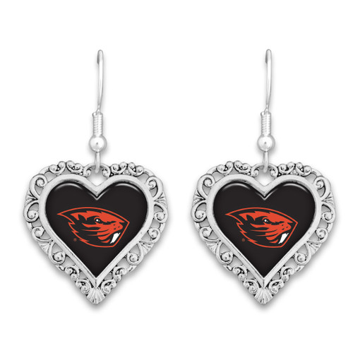 Oregon State Beavers Lace Trim Earrings