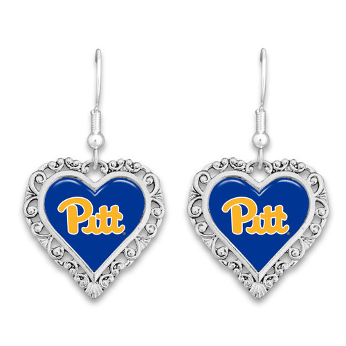 Pittsburgh Panthers Lace Trim Earrings