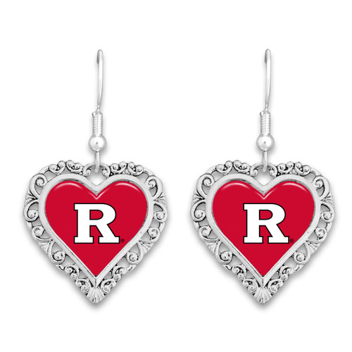 Rutgers Scarlet Knights Lace Trim Earrings