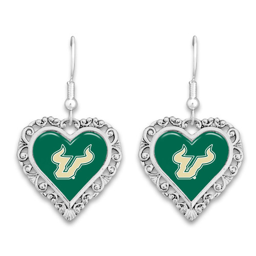 South Florida Bulls Lace Trim Earrings
