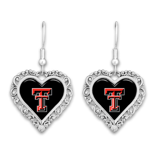 Texas Tech Raiders Lace Trim Earrings