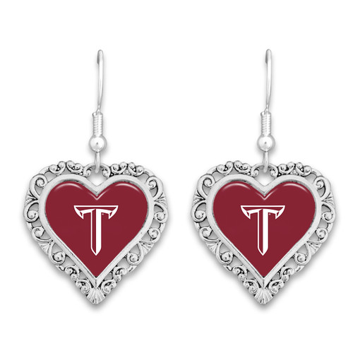 Troy Trojans Lace Trim Earrings