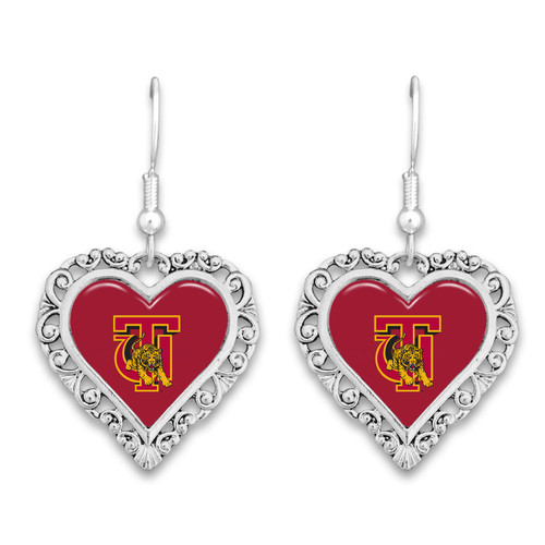 Tuskegee Golden Tigers Lace Trim Earrings