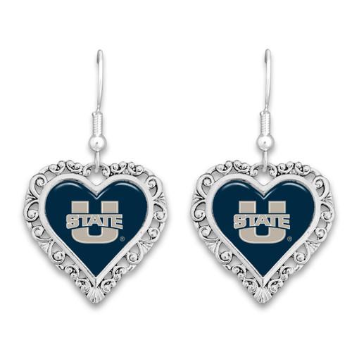 Utah State Aggies Lace Trim Earrings
