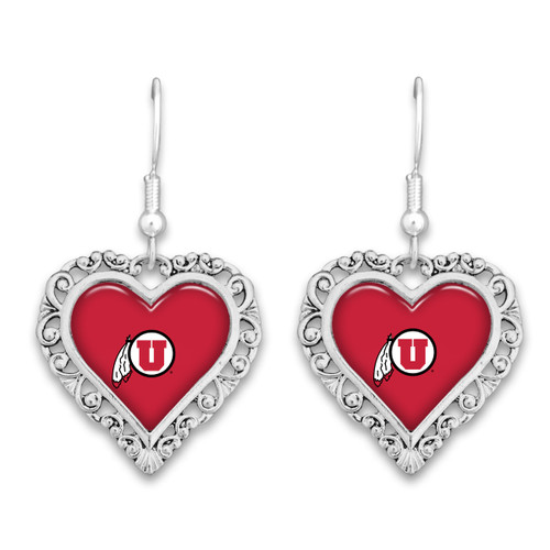 Utah Utes Lace Trim Earrings