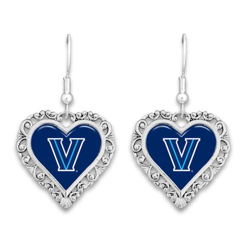 Villanova Wildcats Lace Trim Earrings