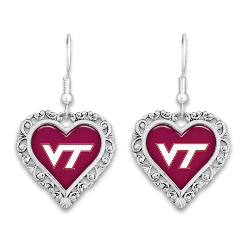 Virginia Tech Hokies Lace Trim Earrings