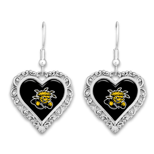 Wichita State Shockers Lace Trim Earrings
