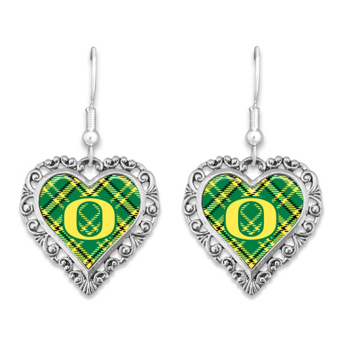 Oregon Ducks Earrings- Plaid