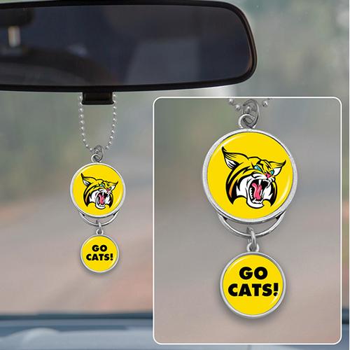 High School Program- Any School Rear View Mirror Car Charm