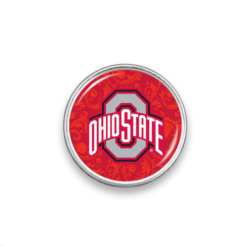 Ohio State Buckeyes Snap Button- Floral Background