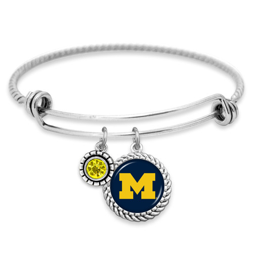 Michigan Wolverines Bracelet- Olivia
