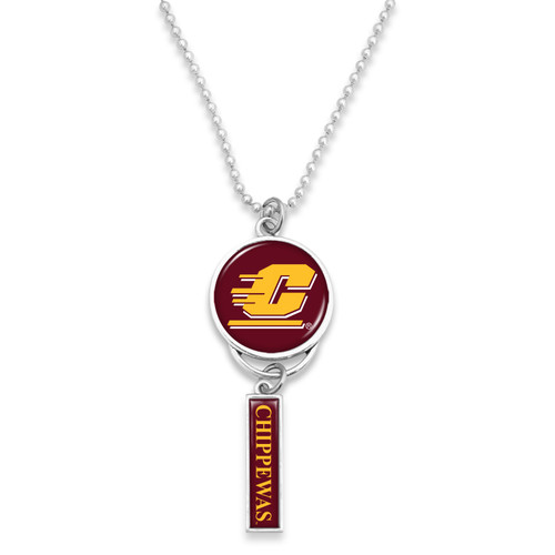 Central Michigan Chippewas Car Charm- Logo with Trifecta Bar/Nameplate